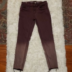 Calvin Klein Purple Dip Dyed Jeans